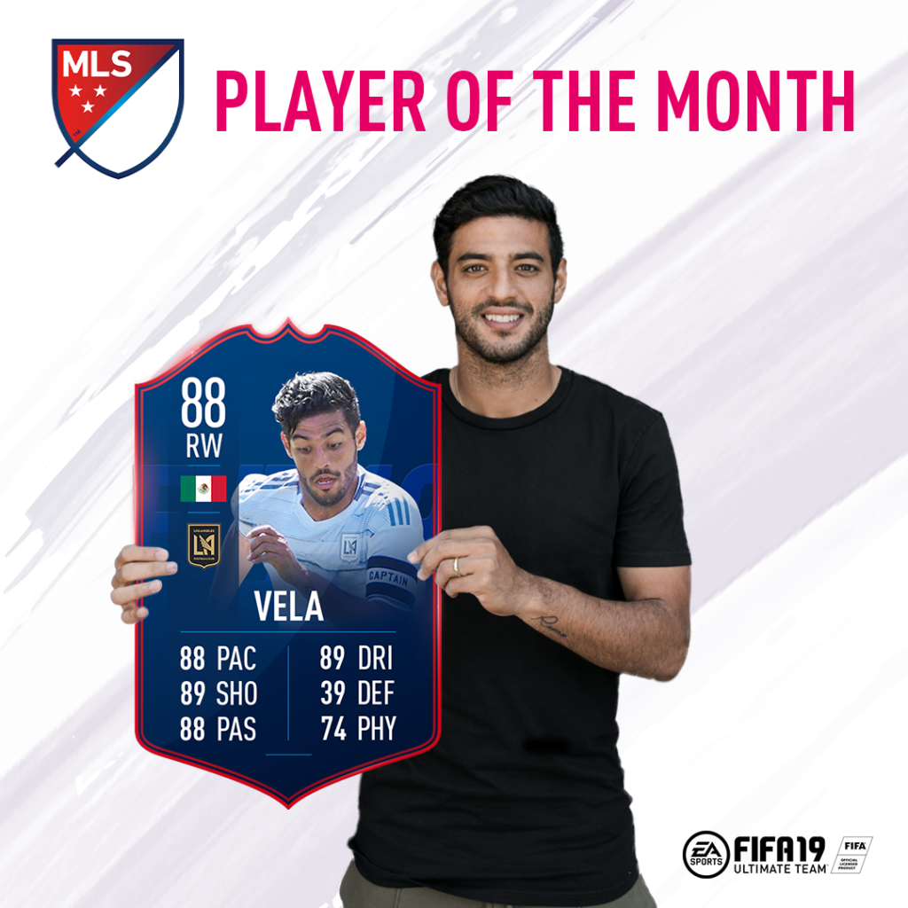 Vela MLS Player of the Month