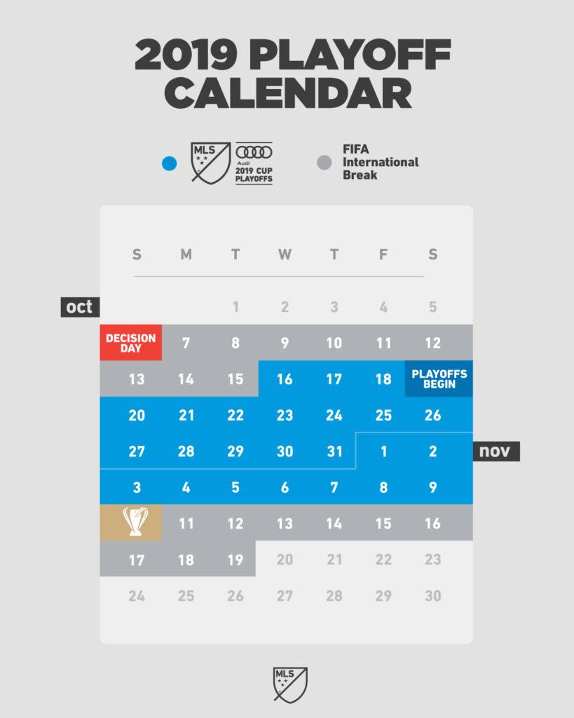 2019 MLS playoff calendar