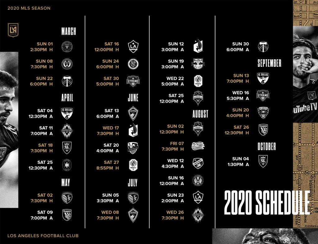 LAFC 2020 Preseason Schedule